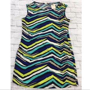 Trina Turk Striped Felana Sleeveless Sheath Dress